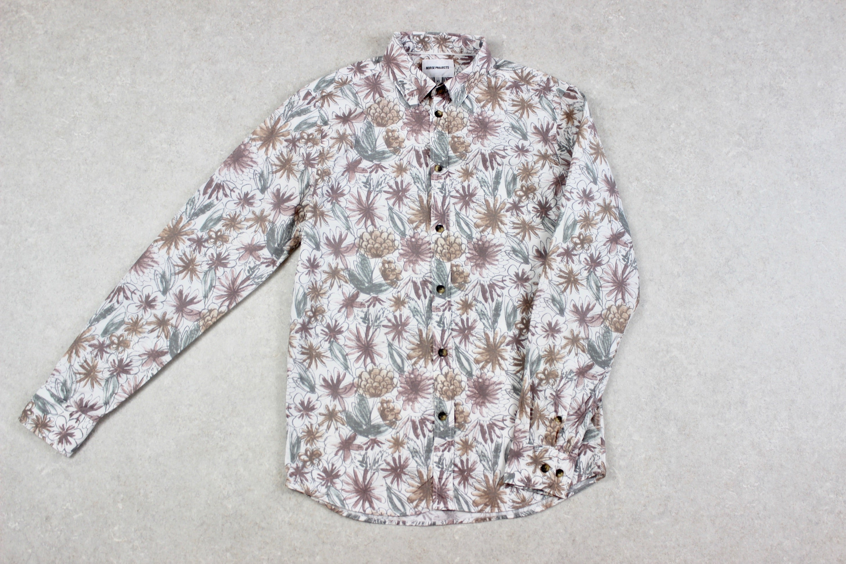 Norse Projects - Shirt - White/Multi Floral - Extra Small