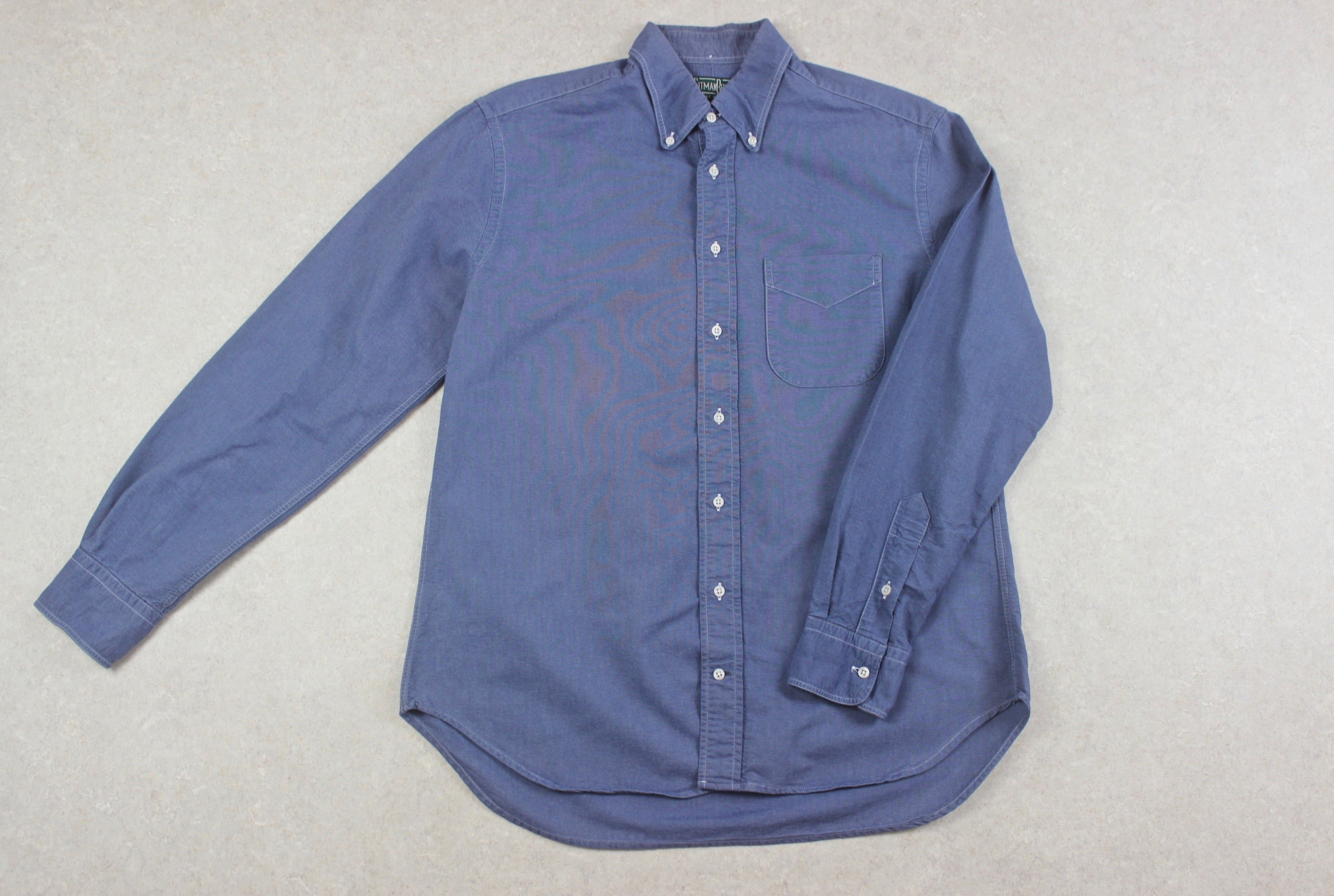 Gitman Bros Vintage - Oxford Shirt - Blue - Large