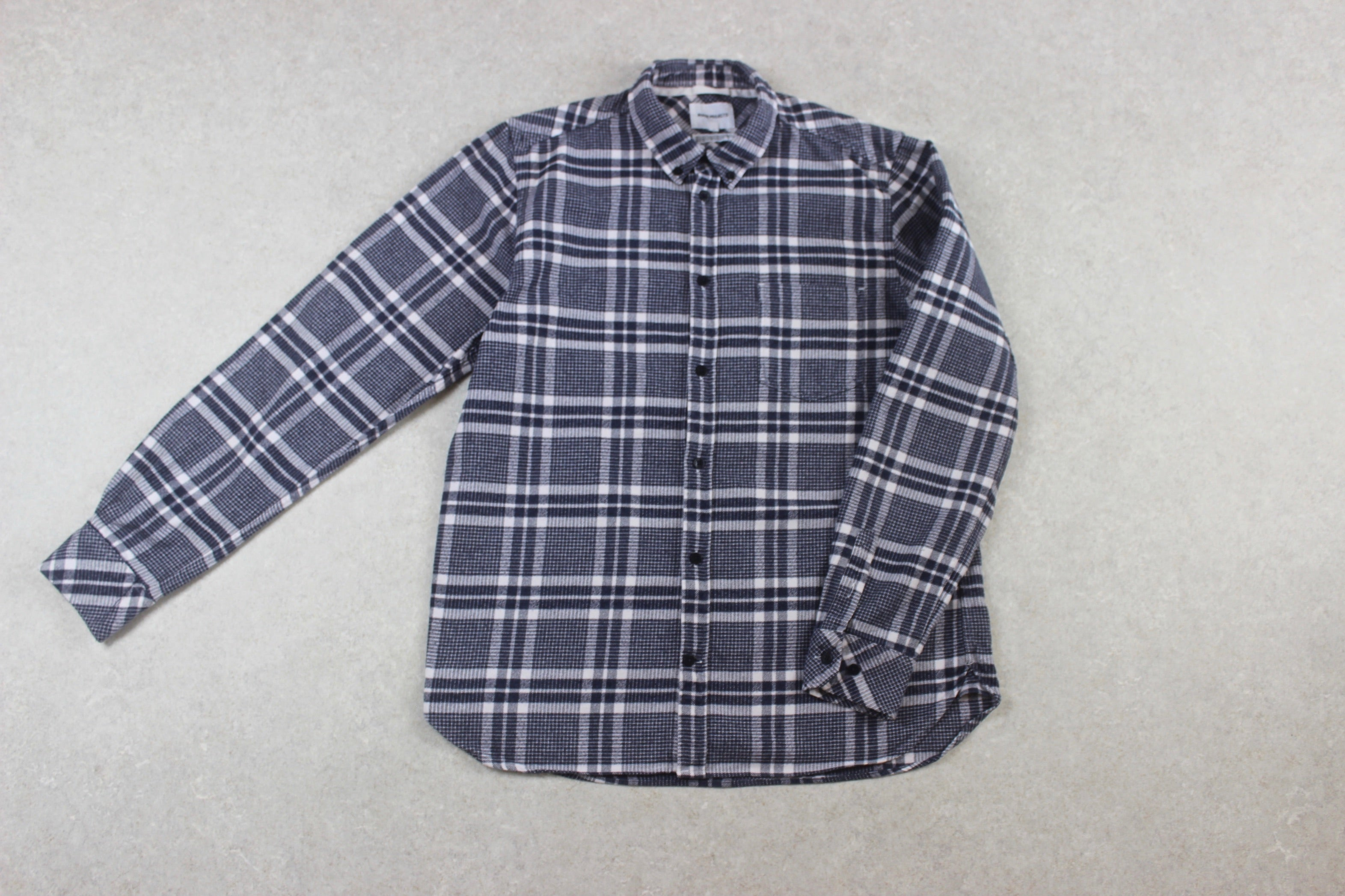 Norse Projects - Flannel Shirt - Navy Blue/White Check - Medium