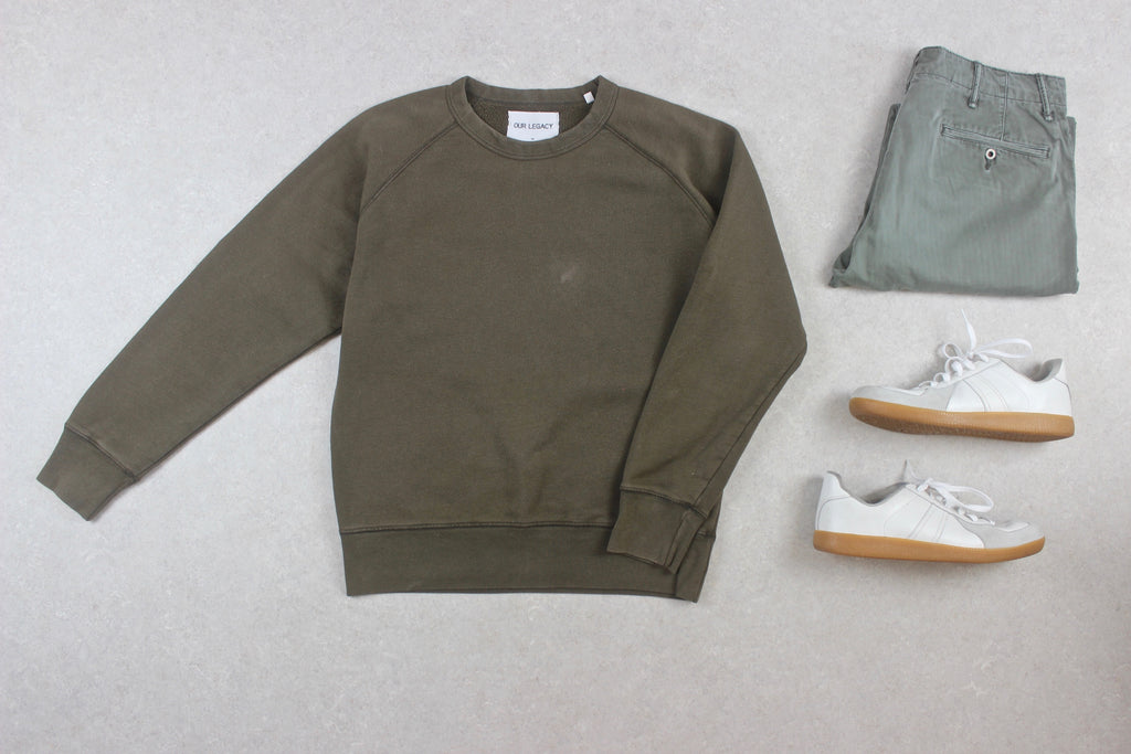 Our Legacy - Sweatshirt Jumper - Olive Green - 48/Medium