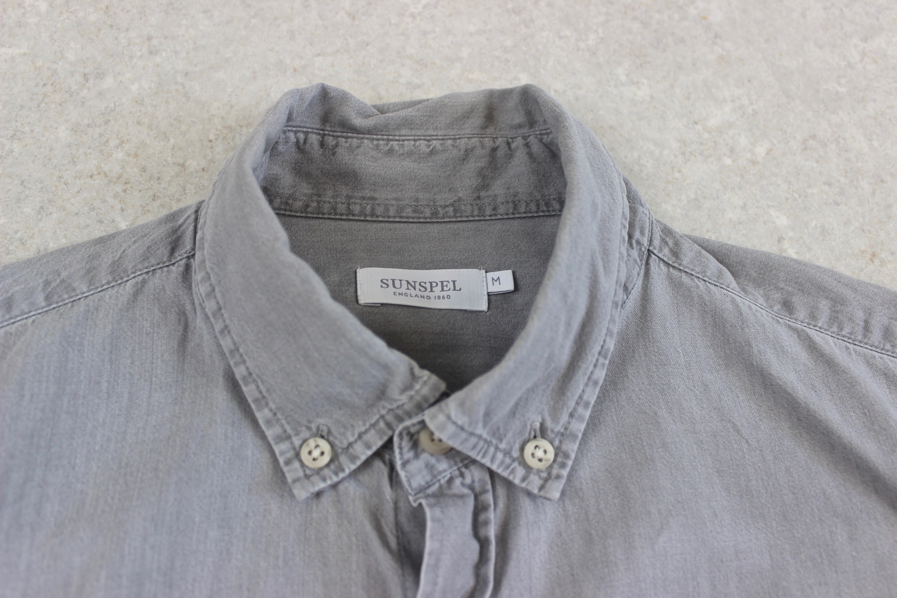 Sunspel - Shirt - Grey - Medium