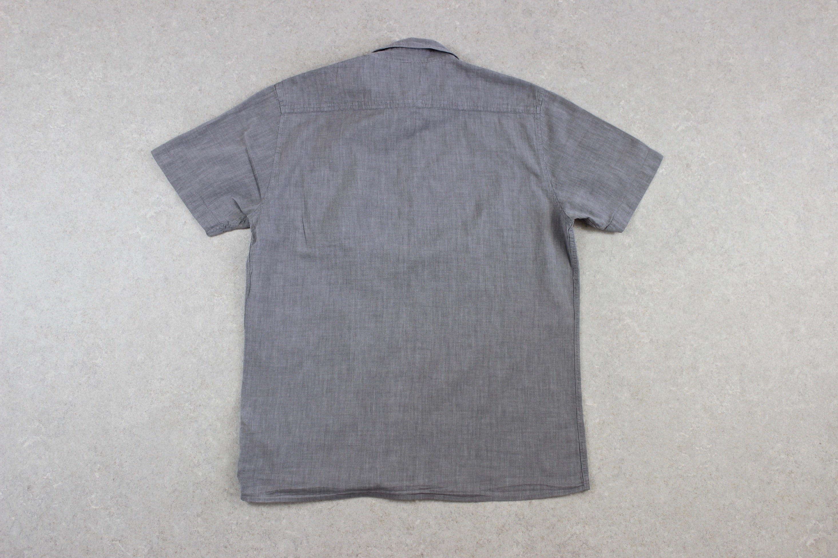 Folk - Short Sleeve Shirt - Grey - 3/Medium