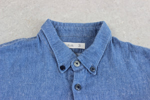 Folk - Shirt - Blue - 3/Medium