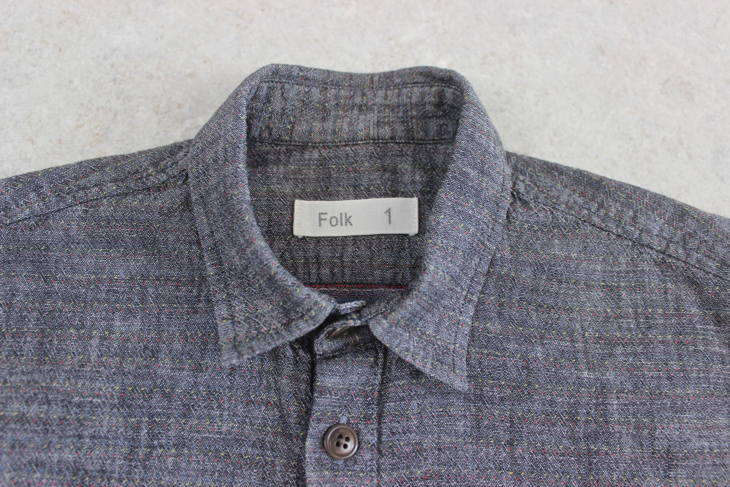 Folk - Shirt - Grey/Multi Colour - 1/Extra Small