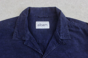 Albam - Camp Collar Overshirt - Navy Blue - Extra Large