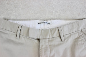 Acne Studios - Max Satin Chino Trousers - Beige - 48/30/32