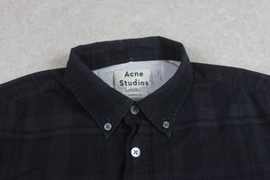 Acne Studios - Isherwood Shirt - Grey/Black Check - Medium