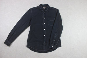 Acne Studios - Isherwood Shirt - Navy Blue/Black - 46/Small
