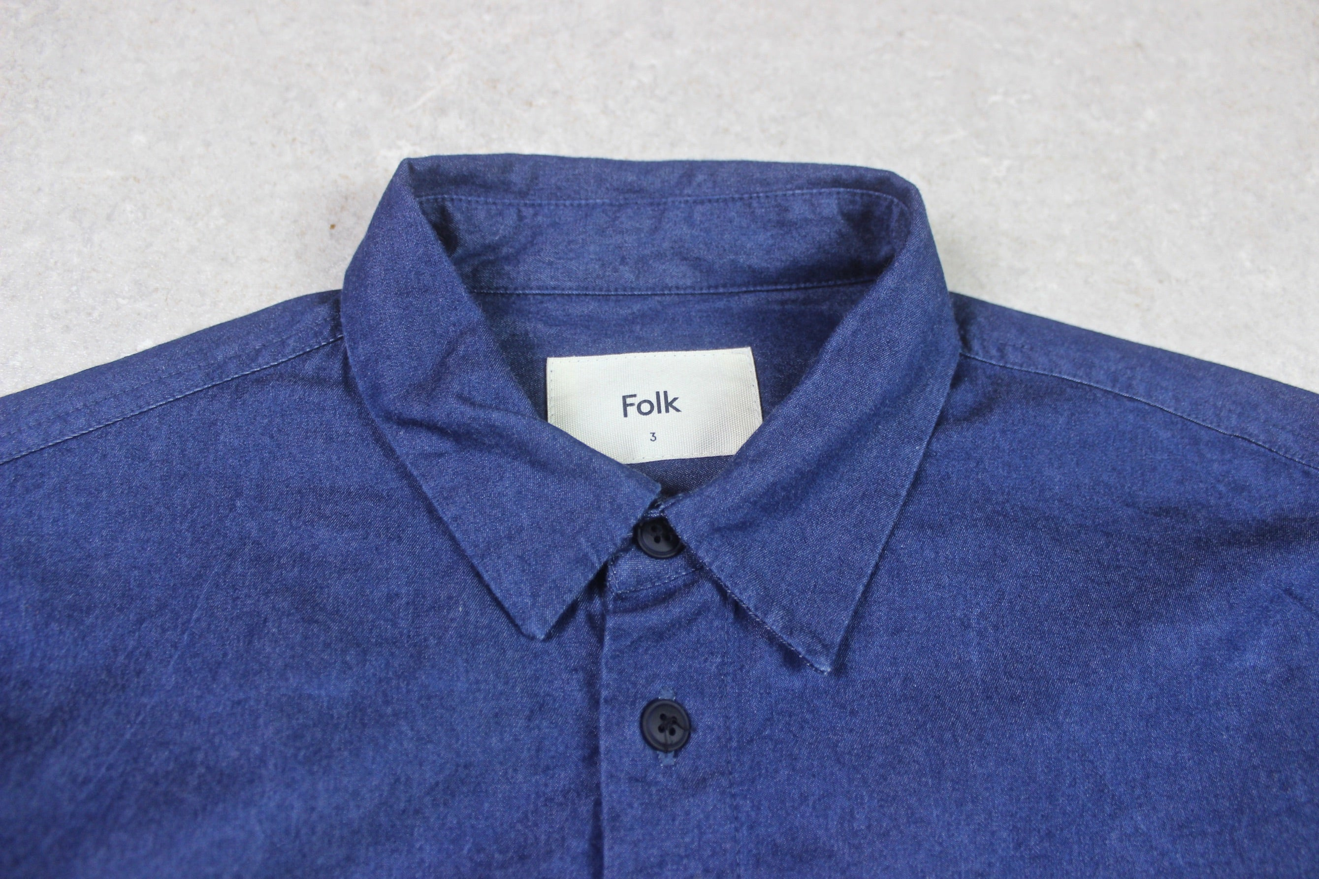 Folk - Shirt - Denim Blue - 3/Medium