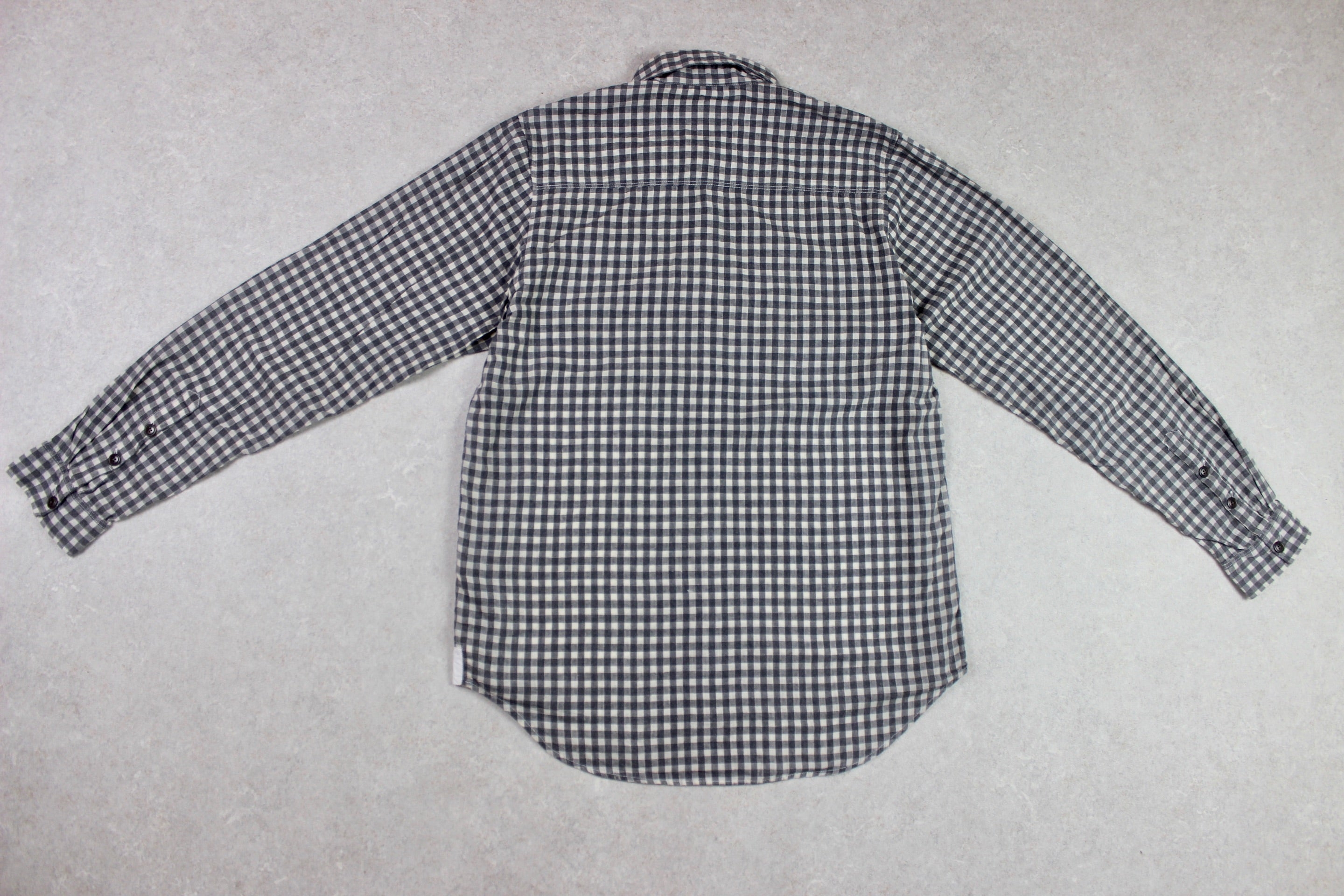 Folk - Shirt - Grey/White Check - 3/Medium