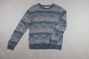 YMC - Jumper - Blue/Multi Stripe - Medium