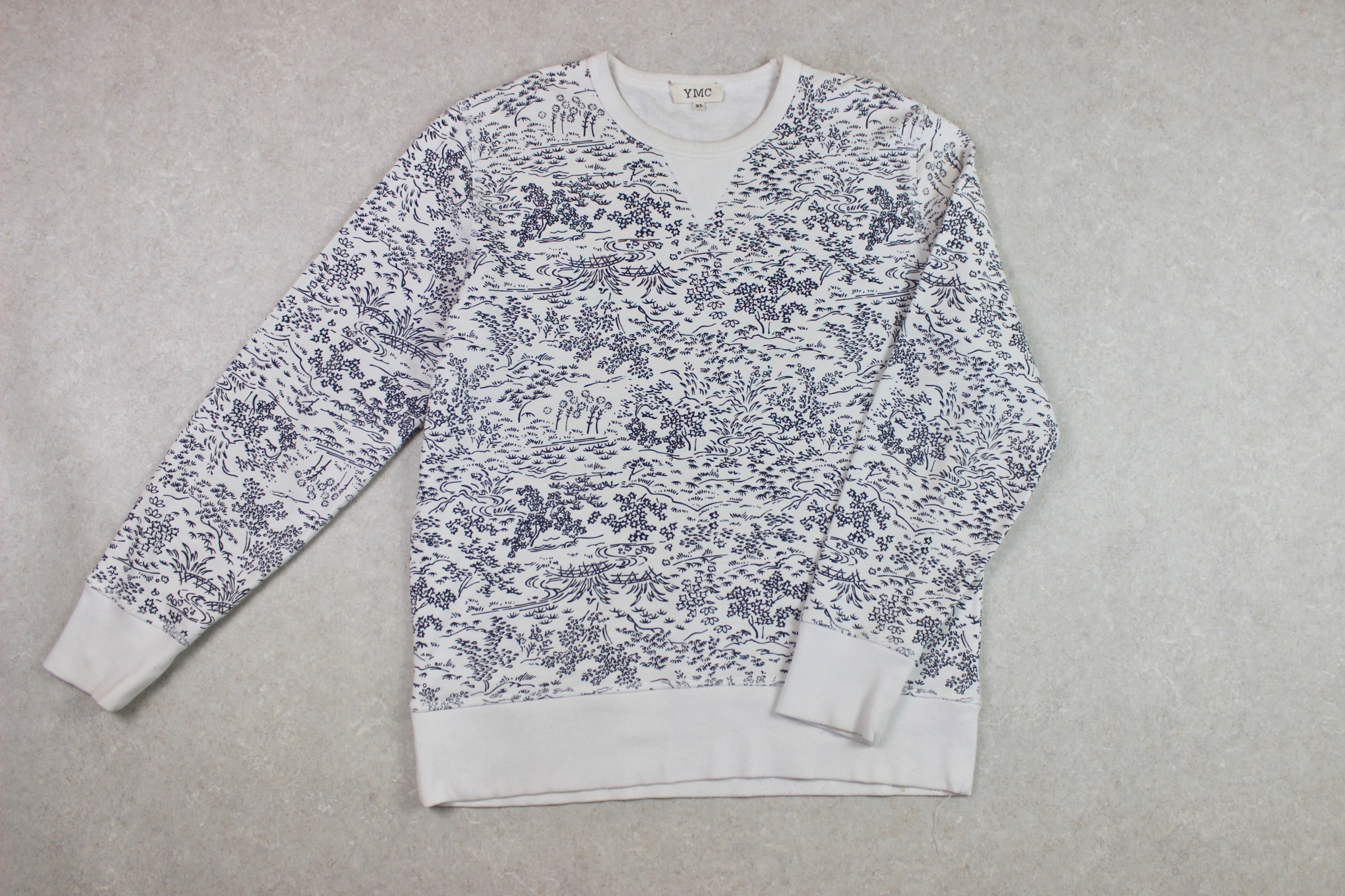 YMC - Sweatshirt Jumper - Cream/Off White - Extra Large