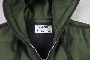 Acne Studios - Quilted Parka Coat Jacket - Olive Green - 44