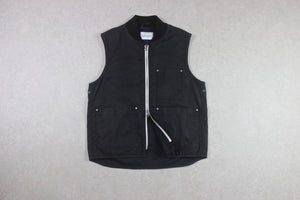 Albam - Waxed Gilet Vest - Black - Small