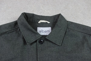 Albam - Cotton/Wool Chore Shacket Jacket - Grey/Khaki - Extra Small