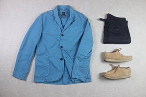 Albam - Blazer Jacket - Turquoise Blue - 1/Small