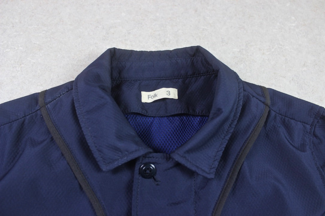 Folk - Bomber Jacket - Navy Blue - 3/Medium