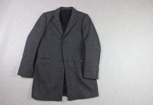 Folk - Wool Overcoat Coat - Grey - 2/Small