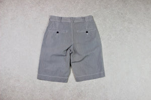 YMC - Shorts - Grey/Navy Blue/White Stripe - Small/30