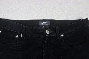 A.P.C. - Corduroy Trousers - Black - 29