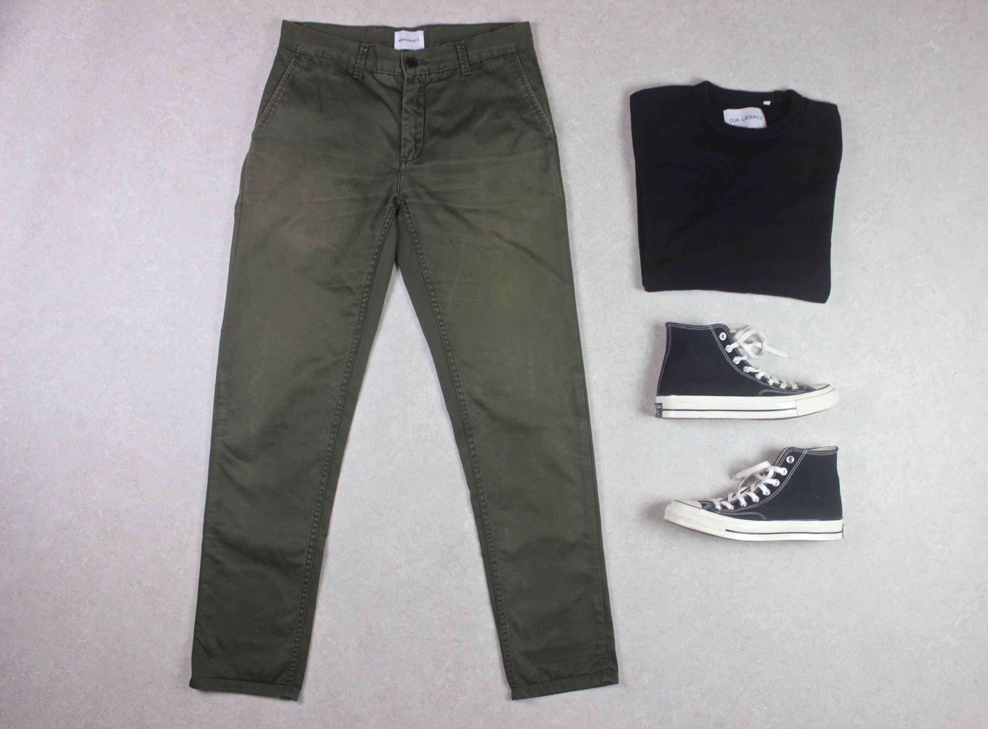 Norse Projects - Arnkell Light Chino Trousers - Green - 32