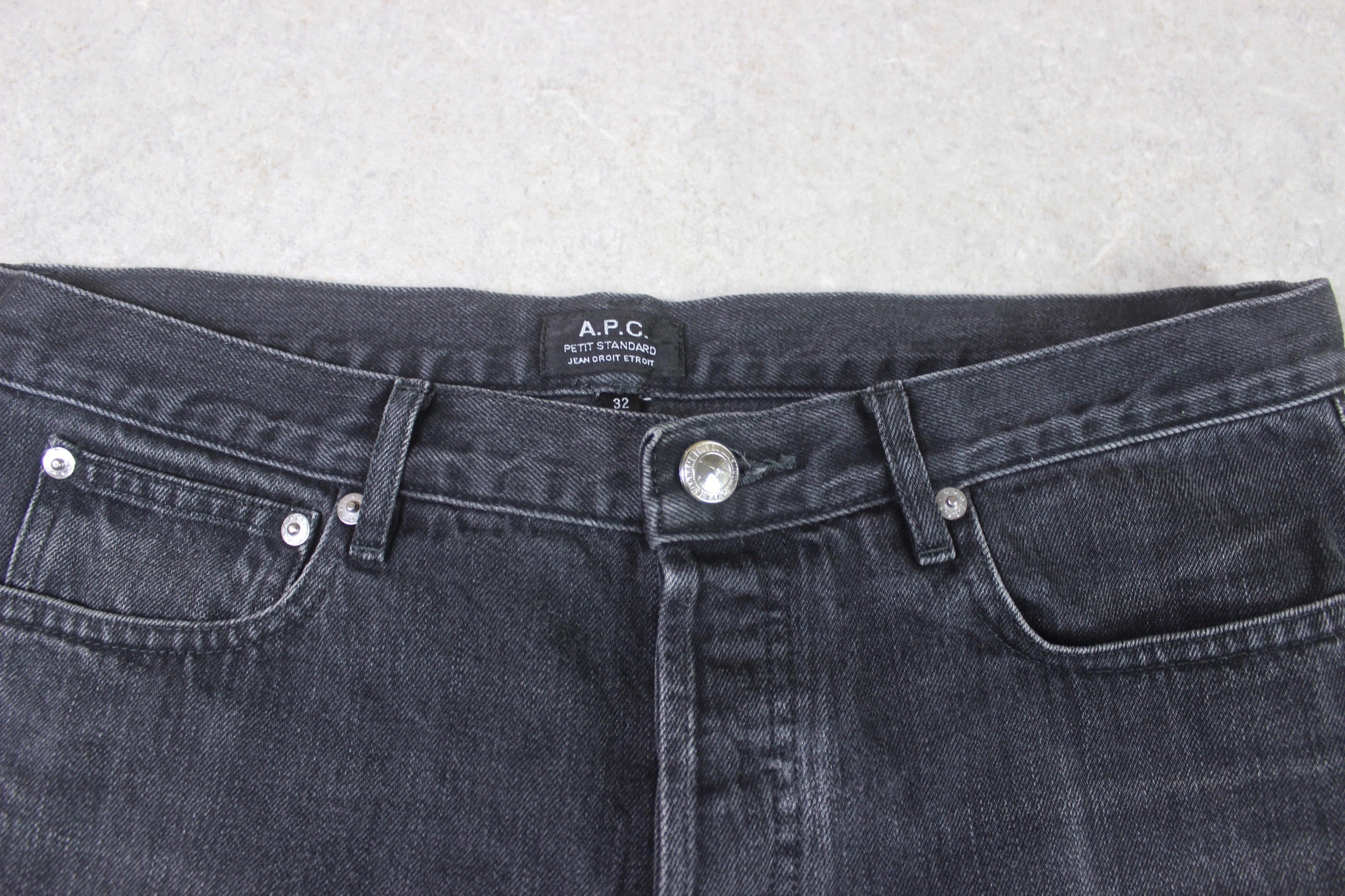 A.P.C. - Petit Standard Butler Jeans - Grey/Washed Black - 32