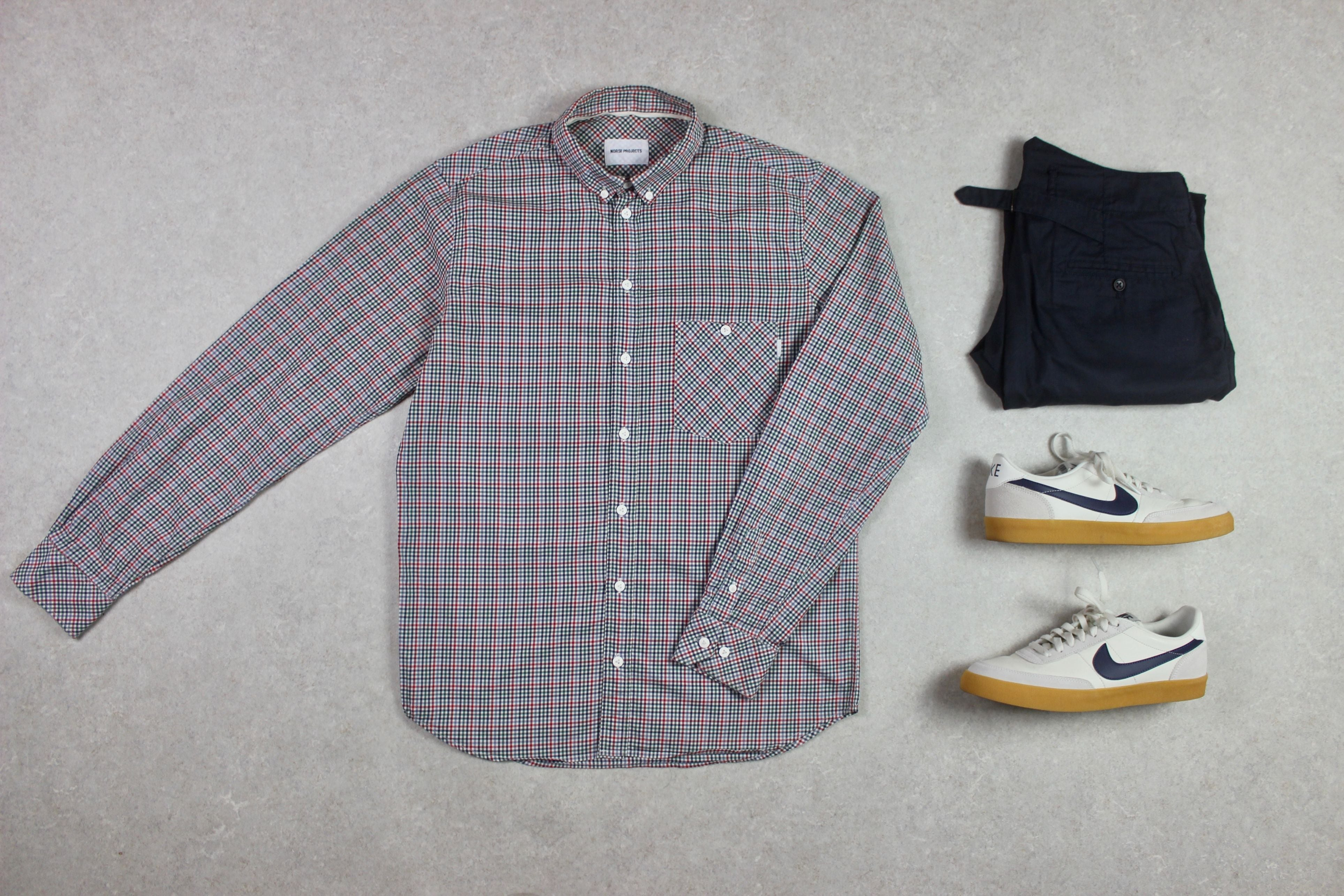 Norse Projects - Shirt - Red Multi Gingham Check - Medium