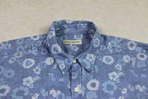 Oliver Spencer - Shirt - Blue Floral - 16.5 Extra Large