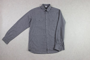 Sunspel - Flannel Shirt - Grey - Medium
