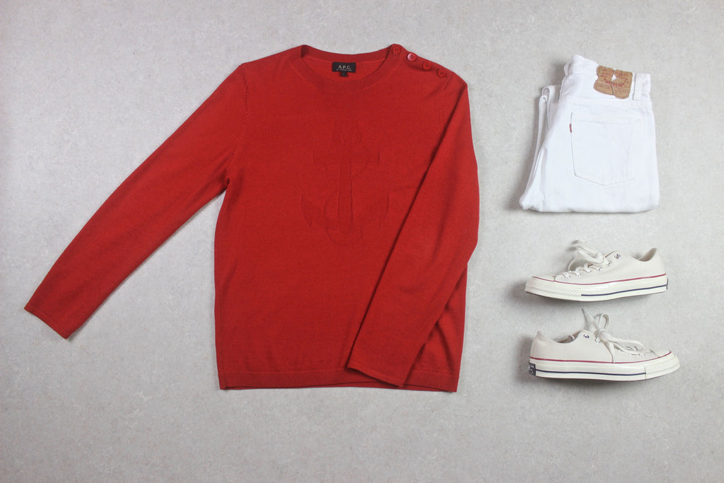 A.P.C. - Wool Knit Jumper - Red - Large