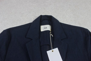 Folk - Linen/Cotton Blazer Jacket - Navy Blue - 2/Small - Brand New