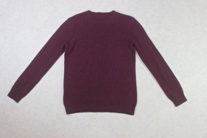 A.P.C. - Lambswool Knit Jumper - Burgundy - Extra Large