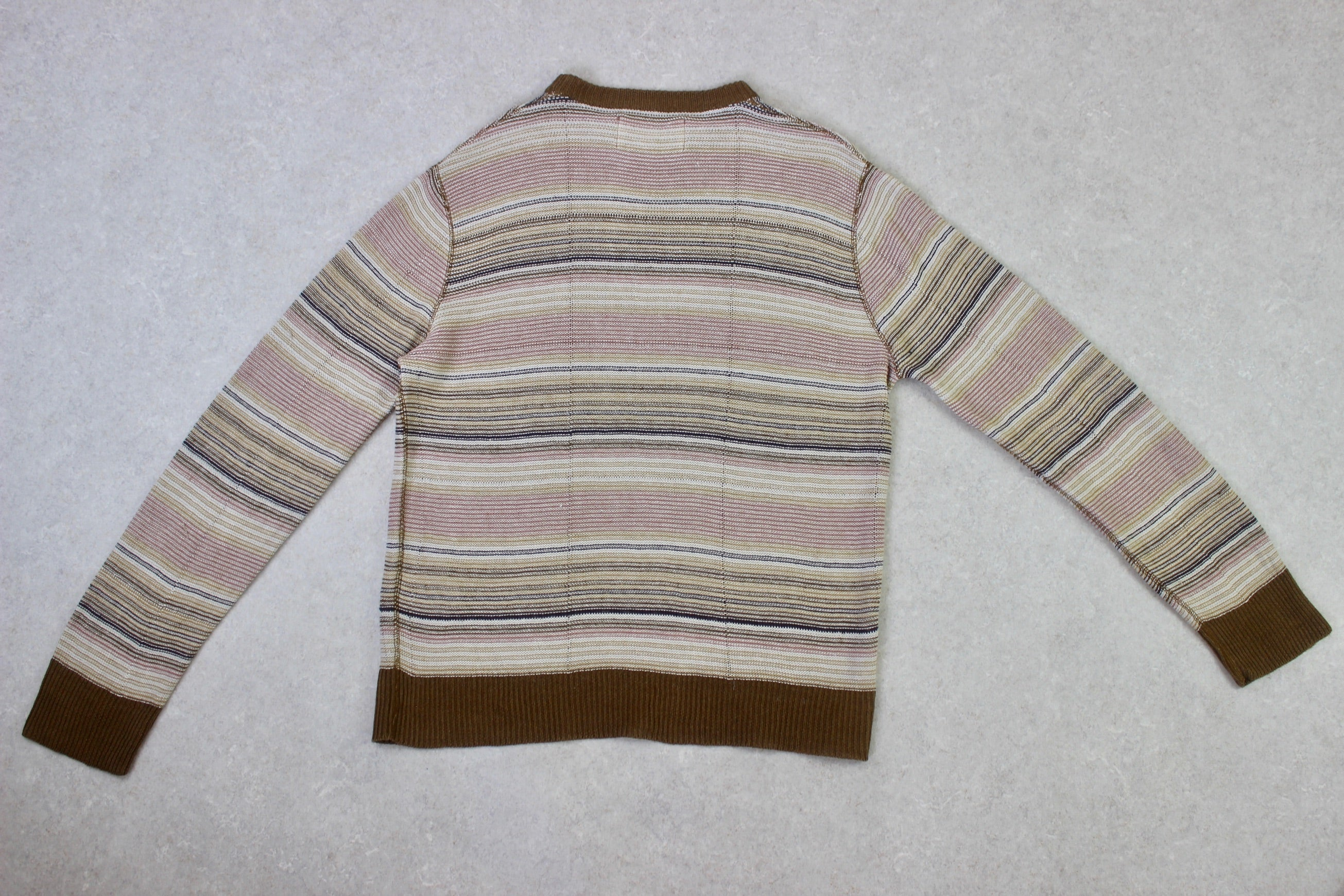 Our Legacy - Linen Jumper - Beige Stripe - 46/Small
