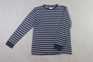 Saturdays NYC - Long Sleeve T Shirt - Blue/White Stripe - Large