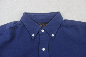 Beams Plus - Flannel Shirt - Navy Blue - Medium