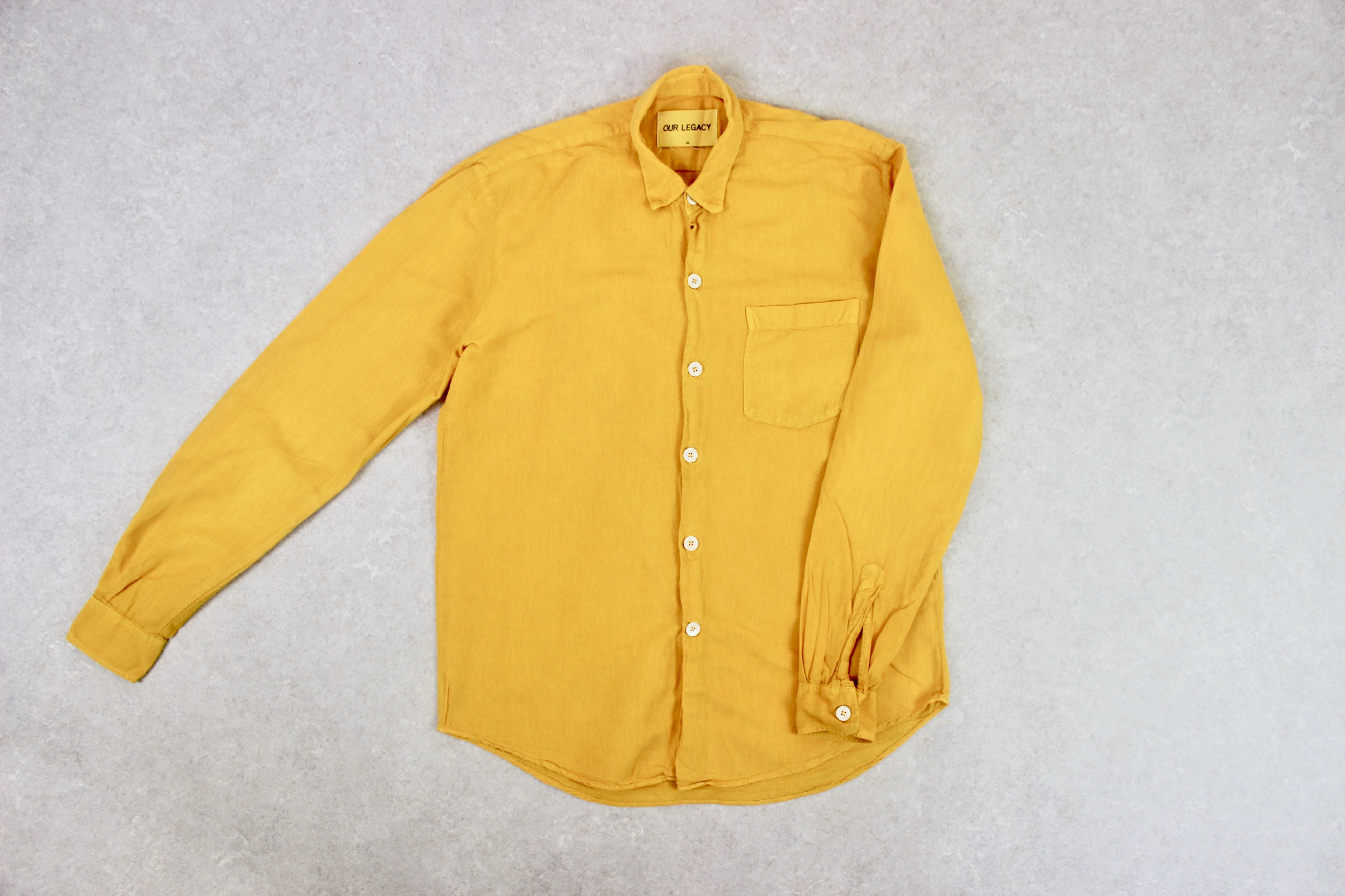 Our Legacy - Cotton/Linen Shirt - Yellow - 46/Small