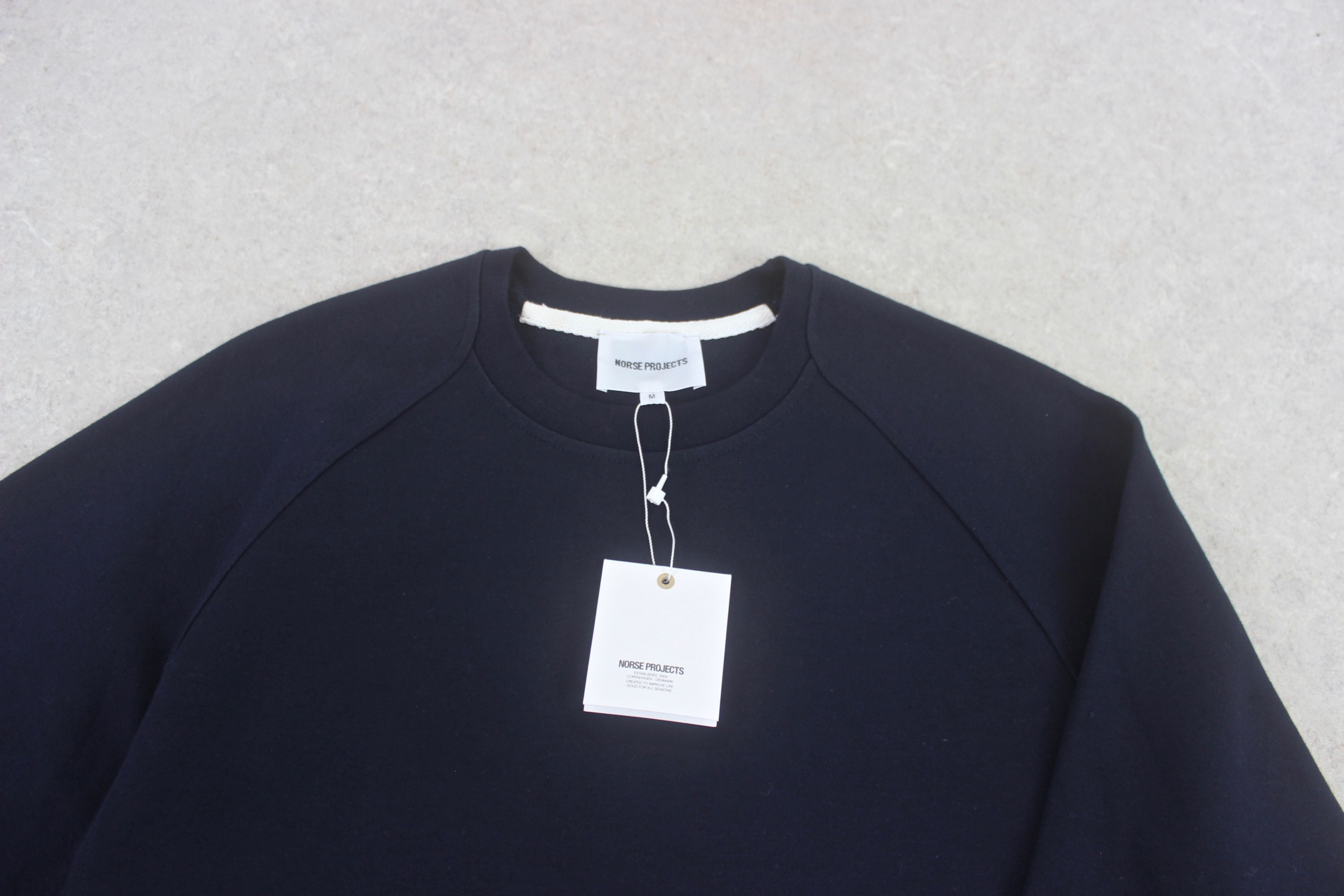Norse Projects - Sweatshirt Jumper - Navy Blue - Medium