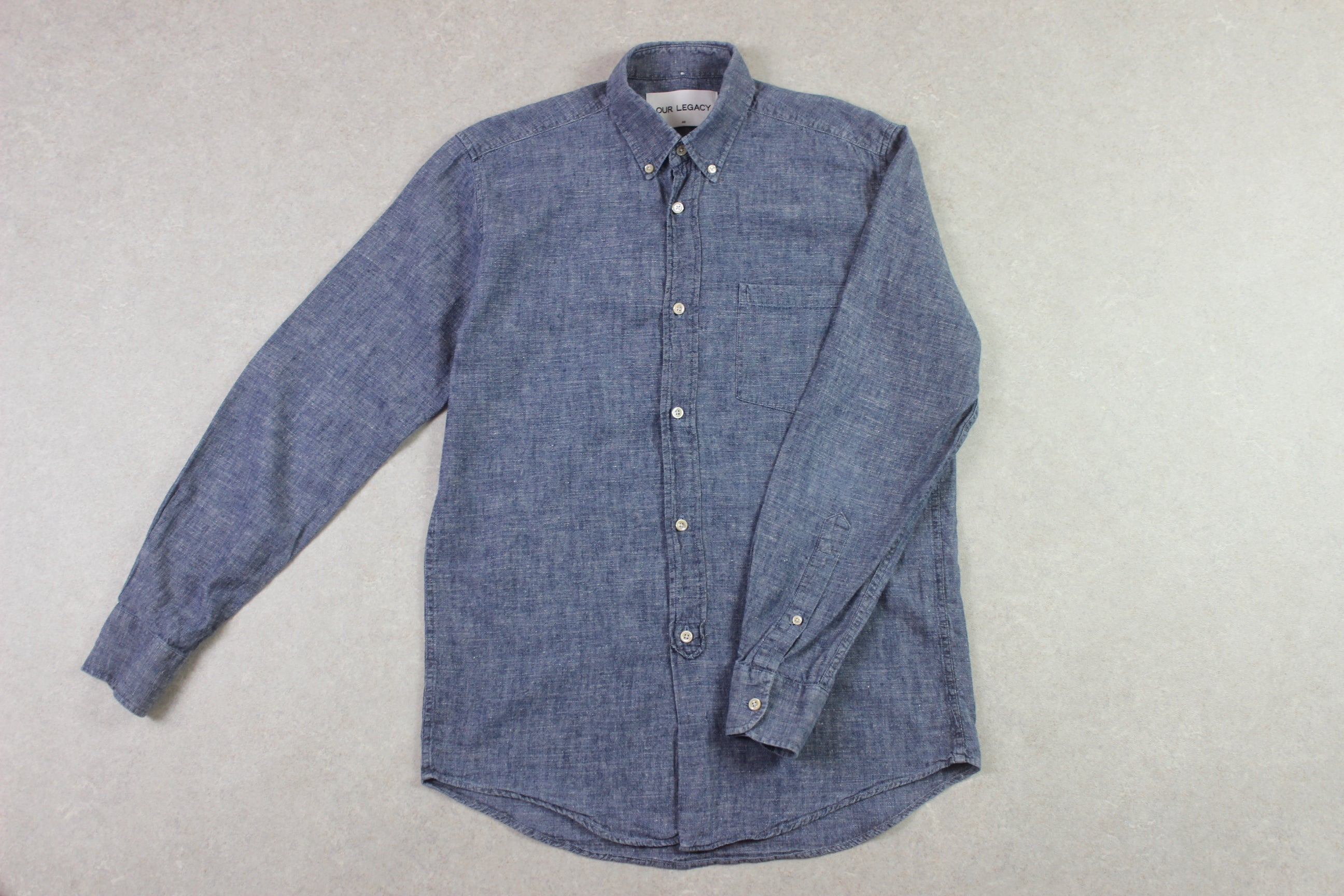 Our Legacy - Denim Chambray Shirt - Blue - 48/Medium