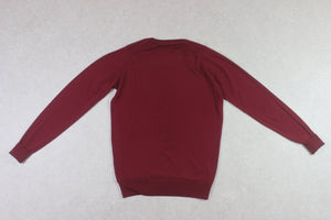 John Smedley - Merino Wool Jumper - Burgundy Red - Small
