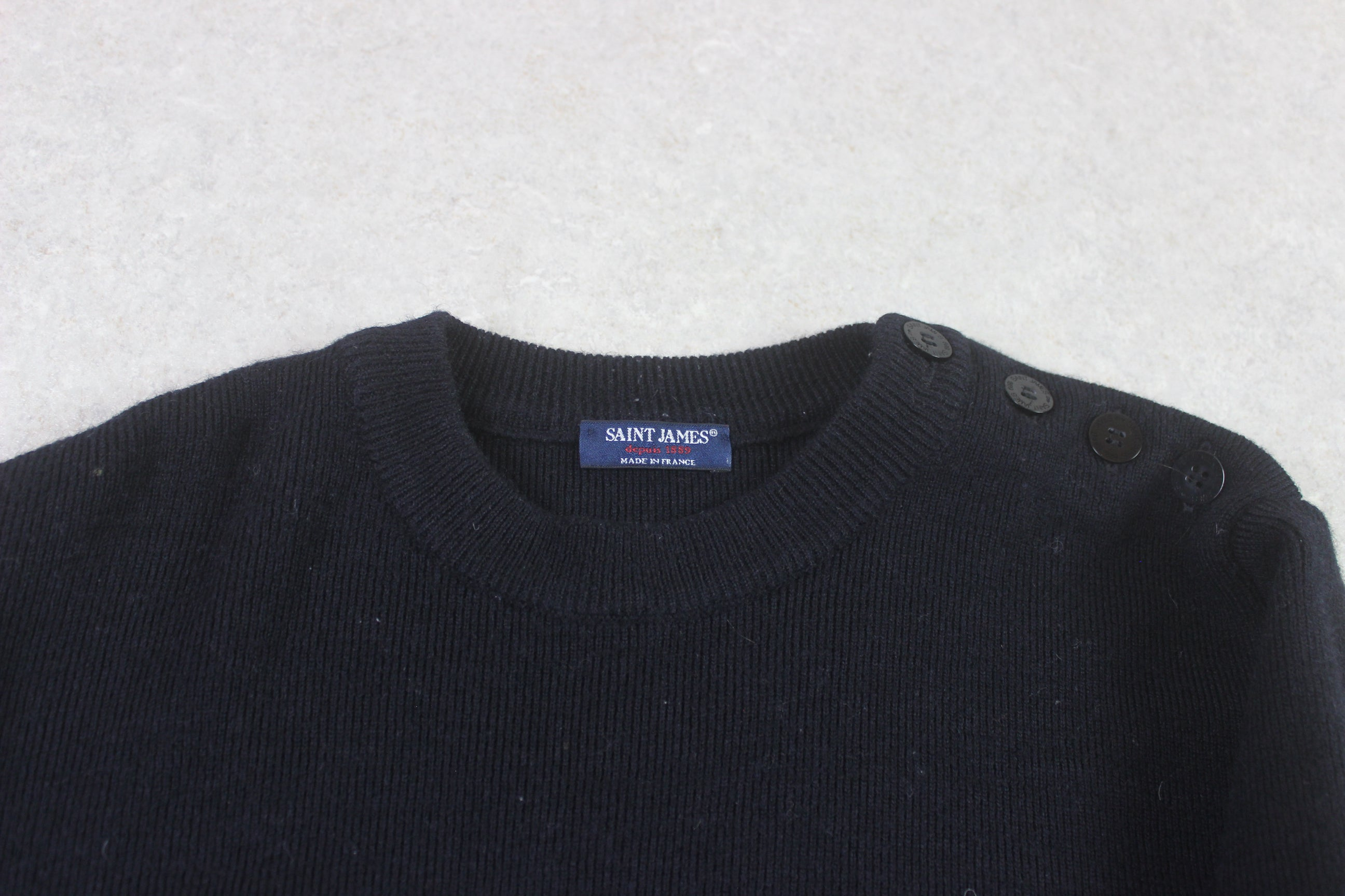 Saint James - Knit Jumper - Navy Blue - Small