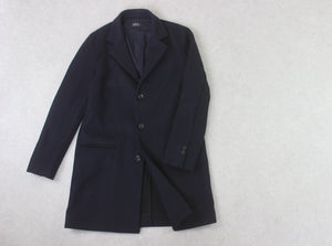 A.P.C. - Wool Coat - Navy Blue - Small