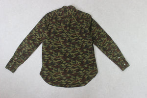 Gitman Bros Vintage - Shirt - Green Camouflage - Medium