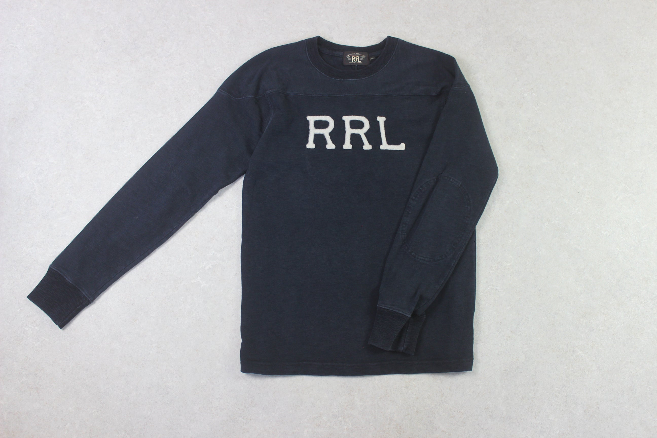 RRL Ralph Lauren - Sweatshirt Jumper - Navy Blue - Small