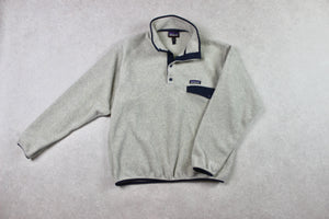 Patagonia - Synchilla T Snap Fleece Jumper - Cream/Grey - Medium