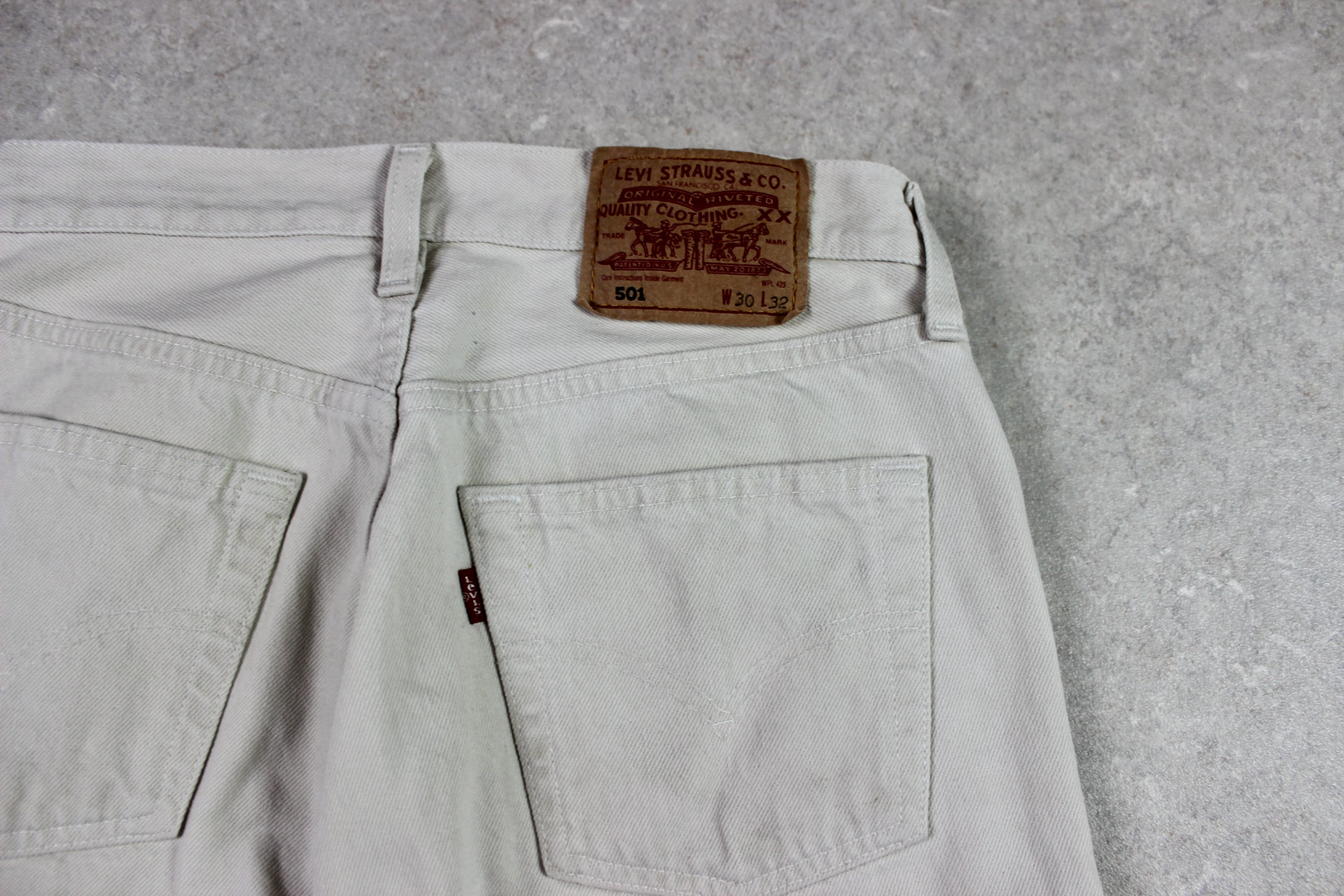 Levi's - 501 Jeans Made in UK - Beige - 30/32