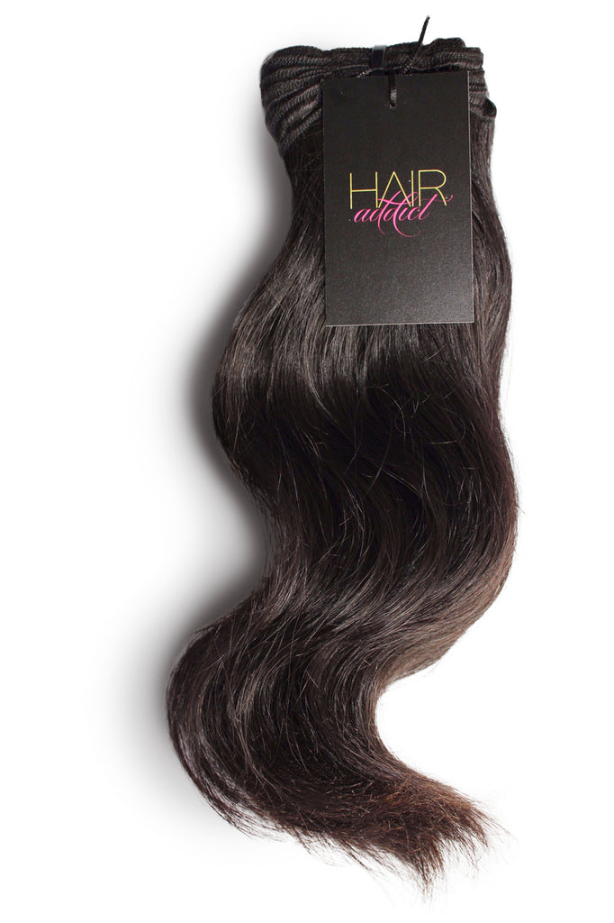 3 BUNDLES + CLOSURE RAW INDIAN STRAIGHT