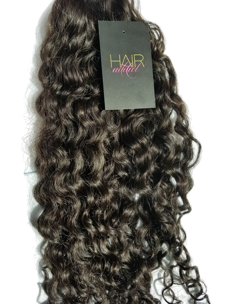 3 BUNDLES + CLOSURE VIRGIN INFINITY DEEP CURLY