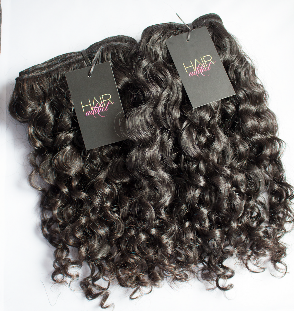 VIRGIN RAW INDIAN CURLY 3 BUNDLE DEAL SPECIAL