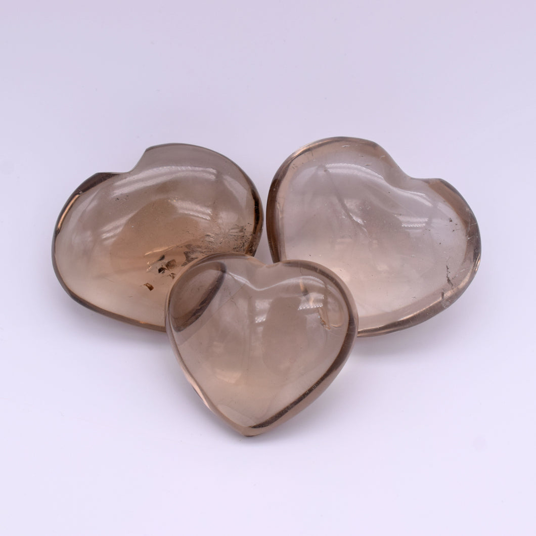 Smokey Quartz Hearts