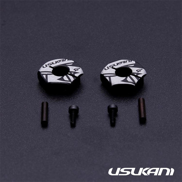 Usukani 7075 Aluminium wheel hub 4mm